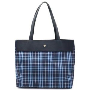 Coming Soon: Burberry London plaid & leather tote